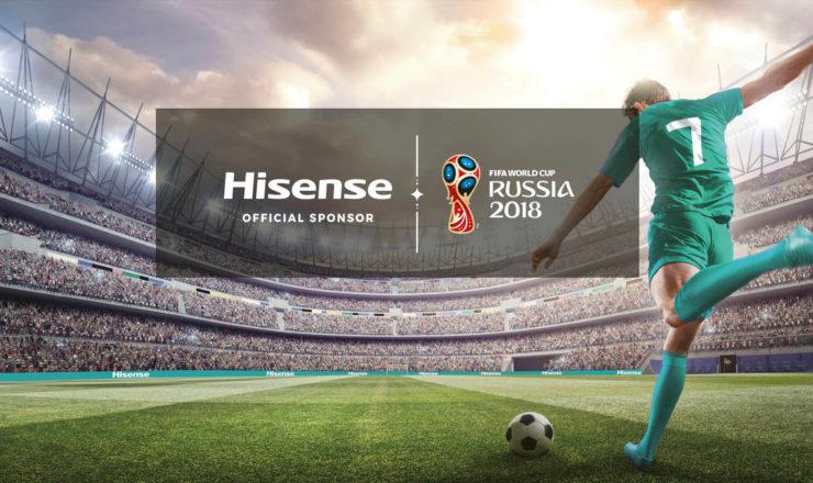 TVs Hisense na IFA a Celebrar o FIFA World Cup 2018™
