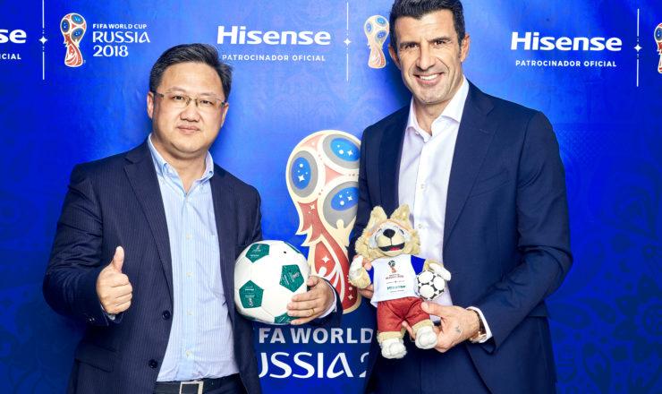 Luis Figo é o protagonista do novo anúncio da Hisense para os meios digitais