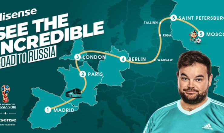 A HISENSE irá percorrer as estradas da Europa junto dos aficionados do Mundial de Futebol