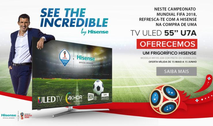A HISENSE torna o FIFA World Cup 2018™ numa experiência única