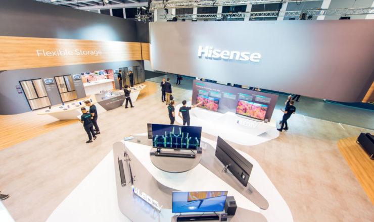 Hisense apresenta as suas grandes novidades das Gamas Branca e Castanha durante a IFA 2018