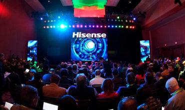 Hisense estreia os últimos avanços em tecnologia e visualização na CES com a apresentação da TriChroma Laser TV e a Sonic One TV extra fina