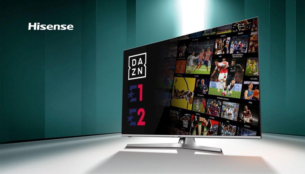 Hisense oferece a mais completa programação desportiva graças ao acordo entre a DAZN e o Discovery